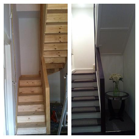 staircase B & A